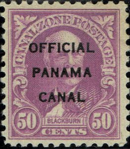 CANAL ZONE #O7 1941 OFFICIAL CANAL ZONE OVERPRINT ON 50 CENT REGULAR ISSUE-MINT