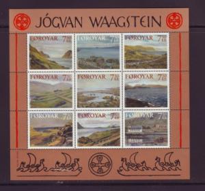 Faroe Islands Sc 462 2005 Waagstein stamp sheet mint NH