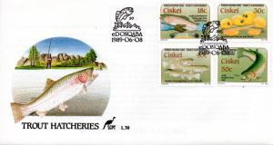 Ciskei - 1989 Trout Hatcheries FDC SG 149-152
