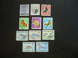 Stamps - Cuba - Scott#608-609,C185-C191,E26-E27 - Used Set of 11 Stamps