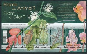 [I500068] Belgium 2015 Flower's Insect good sheet very fine MNH