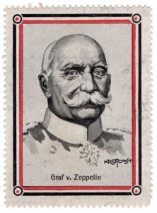 (I.B-CK) Germany (Great War) Cinderella : Patriotic Stamp (Graf Zeppelin)