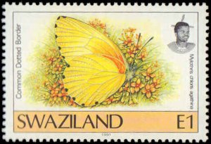 Swaziland #600-611, Complete Set(12), 1996-2000, Butterflies, Never Hinged