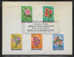 Maldives 455-59 Flowers Chicago World Flower Show Cancel