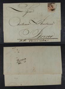 Austria 1858 Postal History Rare Old Cover + Content LOMBARDI VENETIA  DB.297