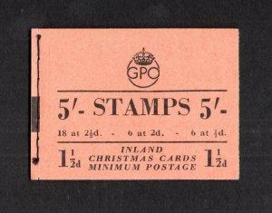 GEORGE VI 5/- BOOKLET NOVEMBER 1951 SG BD30(4) Cat £65