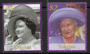TOKELAU ISLANDS SG340/1 2002 QUEEN MOTHER COMMEMORATION MNH