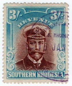 (I.B) Southern Rhodesia Revenue : Duty Stamp 3/-