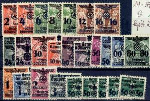 German WWII GGov O/P Set Used g6412
