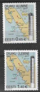 2017  ESTONIA  -  SG. 841 / 842  -  LIGHTHOUSES -  MNH