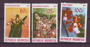 J25066 JLstamps 1979 indonesia set mnh #1045-7 flowers