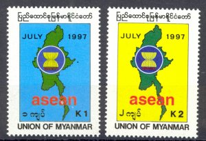 Burma Sc# 336-337 MNH 1997 ASEAN 30th