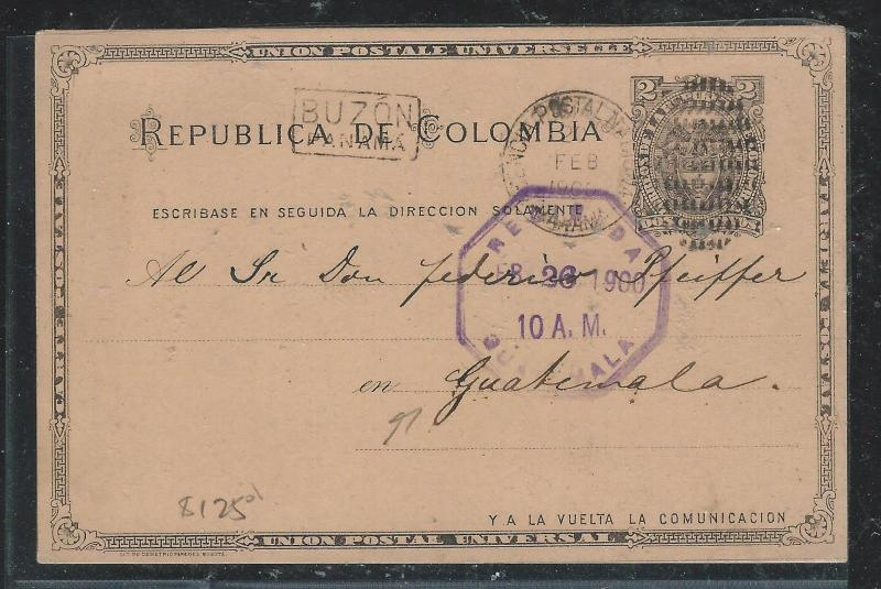 COLOMBIA(PP2706B) 1900  2C PSC   TO GUATEMALA