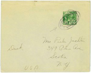 93705 - DUTCH INDIES  - POSTAL HISTORY - SHIP POSTMARK on cover to USA  PAQUEBOT