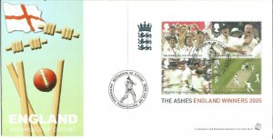 England The Birthplace Of Cricket FDC Cover The Ashes Winners 6th Oct 2005 U1341