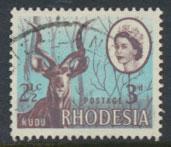 Rhodesia   SG 408  SC# 245 Used  Kudu  Dual Currency   details