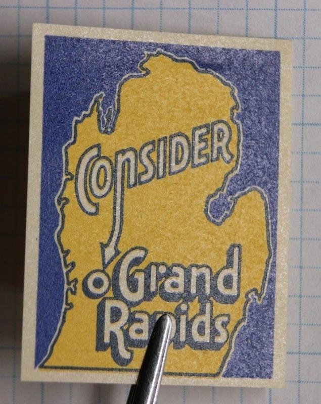 Grand Rapids Michigan Business Travel Tourism bureau develop poster stamp ad