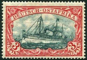 GERMAN EAST AFRICA-1905-20 3r Blue-Black & Red Sg 44 MOUNTED MINT V36336