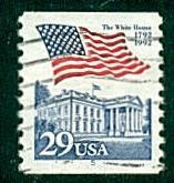 #2609 Flag over White House Coil Single PL# 5   - Used