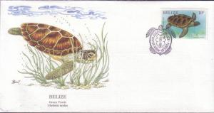 Belize FDC SC# 945 Green Turtle L12
