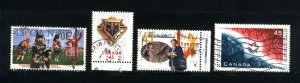 Canada #1655-58   -3   used VF 1997  PD