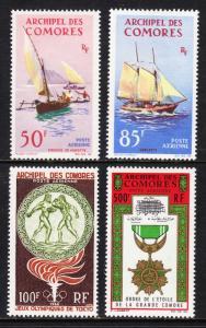COMORO ISLANDS — SCOTT C10-C11,C12,C13 — 1964 AIRMAILS — MH — SCV $39.00