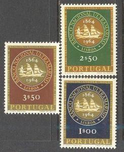PORTUGAL Sc# 925 - 927 MH FVF Set3 Overseas Bank Sailbats