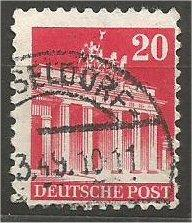 GERMANY, 1948, used 20pf carmine, Brandenburg Scott 646