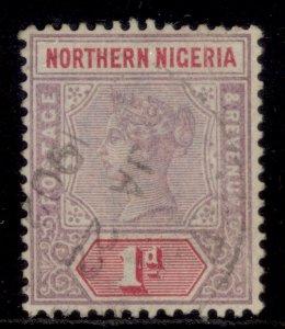 NORTHERN NIGERIA QV SG2, 1d dull mauve & carmine, FINE USED.