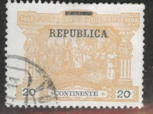 Portugal Scott 195 Used from Postage due  w Republic Overprint set of 1911