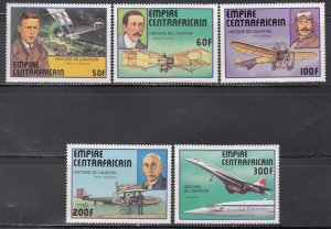Central Africa MNH 297-301 Aircraft 1977