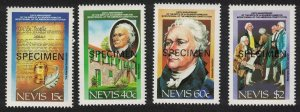 Nevis US Constitution 4v SPECIMEN 1987 MNH SG#466-469