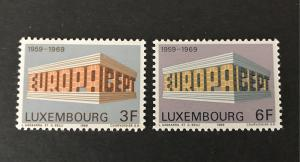 Luxembourg 1969 #475-76 MNH SCV $1.10