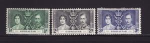 Gibraltar 104-106 Set MH George VI Coronation (C)