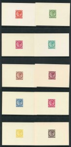 PRINCE EDWARD IS SG17/18 1962 6d reprinted die proofs TEN different colours