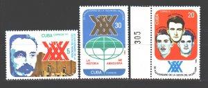 Cuba. 1983. 2743-45. Storming the Moncada barracks. MNH.