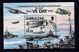 Gibraltar 1995  # 683 MNH VE Day-50th Anniversary S/Sheet
