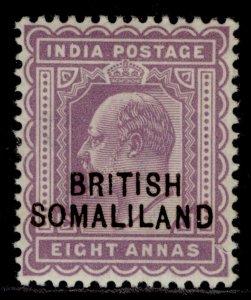 SOMALILAND PROTECTORATE EDVII SG30, 8a purple, M MINT.