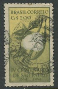 Brazil - Scott 772 - Cent.De Sao Paulo - 1954 - Used- Single 2cr Stamp