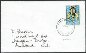 PAPUA NEW GUINEA 1967 cover ex BUIN........................................39590