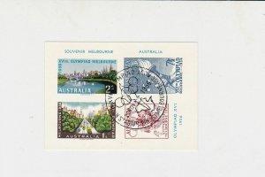 Australia Olympics 1956 Special Cancel Stamp Sheet ref R 17783