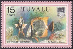 Tuvalu # 103 mnh ~ 15¢ Fish