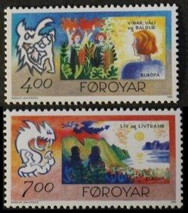 1995 Faroe Islands 278-279 Europa Cept 4,00 €