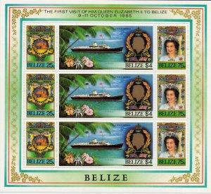 Belize. 1985. 825-27. Ship. MNH.