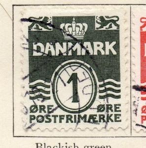 Denmark 1933-34 Early Issue Fine Used 1ore. 106662