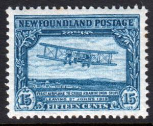Newfoundland GV 1929 15c Blue SG186 Mint Hinged