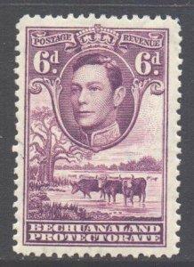 Bechuanaland Scott 130 - SG124a, 1938 George VI 6d MH*