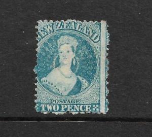 NEW ZEALAND 1864-67  2d  BLUE  FFQ  MLH  P12 1/2  CP A2M2  SG 113 CHALON