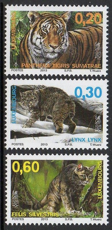 Luxembourg 2013 Wild Cats Tiger VF MNH