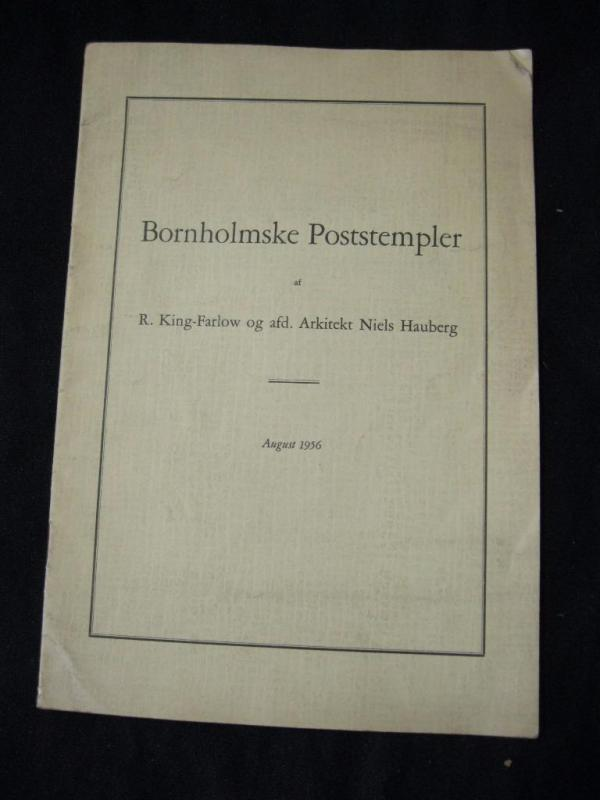 BORNHOLMSKE POSTSTEMPLER by KING-FAROW & HAUBERG
